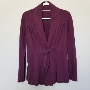 Athleta Cotton/Cashmere Faux Wrap Sweater size S